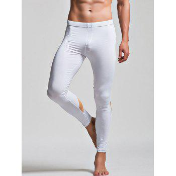 Low Waist Long Johns with Color Insert
