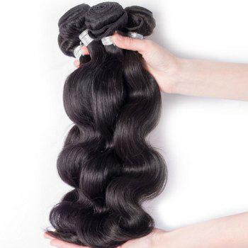 1Pcs Body Wave Indian 5A Remy Hair Weave - BLACK 16INCH