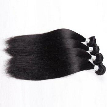 1Pcs Straight Indian 5A Remy Hair Weave - BLACK BLACK