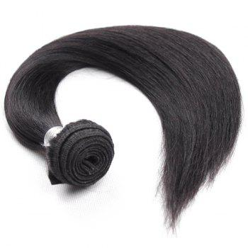 1Pcs Straight Indian 5A Remy Hair Weave - BLACK 10INCH