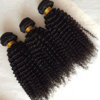 1pcs Kinky Curly indienne 5A Remy Hair Weave - Noir 26INCH