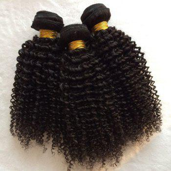 1Pcs Kinky Curly Indian 5A Remy Hair Weave - BLACK BLACK