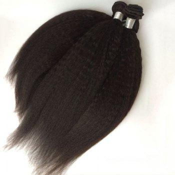 1Pcs Kinky Straight Indian 5A Remy Hair Weave - BLACK 16INCH