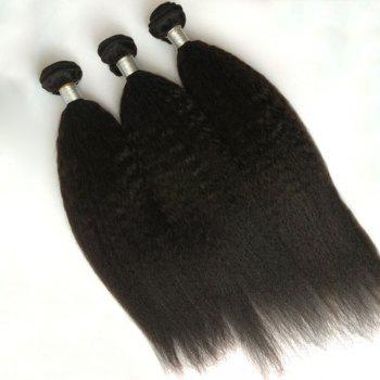 1Pcs Kinky Straight Indian 5A Remy Hair Weave - Noir 10INCH