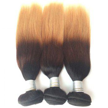Multi 1Pcs 5A Indian Hétéro Remy Hair Weave - multicolorcolore 12INCH