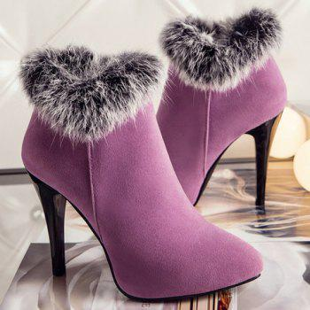 Zip Pointed Toe Suede Ankle Boots