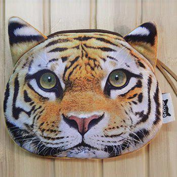 Zipper 3D Tiger Coin Bag -  COLORMIX