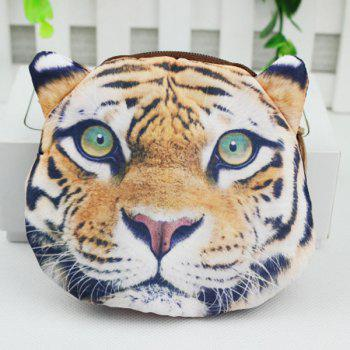 Zipper 3D Tiger Coin Bag - COLORMIX COLORMIX