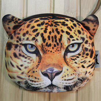 Zipper 3D Tiger Coin Bag -  LEOPARD