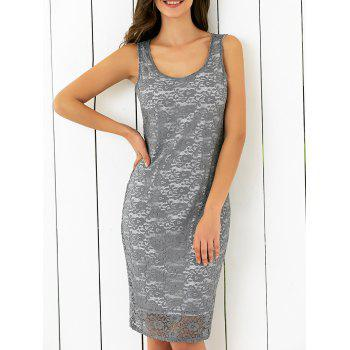 U Neck Lace Tank Dress