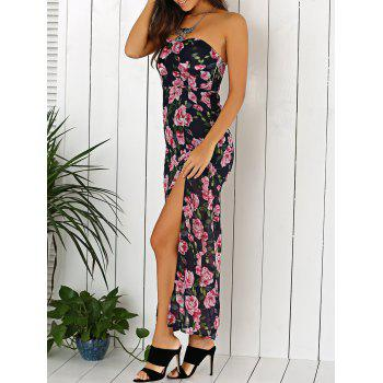 Summer Maxi Floral Print Strapless Dress