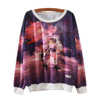 Galaxy Print Loose Sweatshirt
