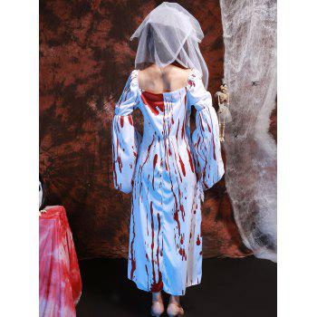 Blood Print Lace Splicing Hallowmas Cosplay Costume - ONE SIZE(FIT SIZE XS TO M) ONE SIZE(FIT SIZE XS TO M)