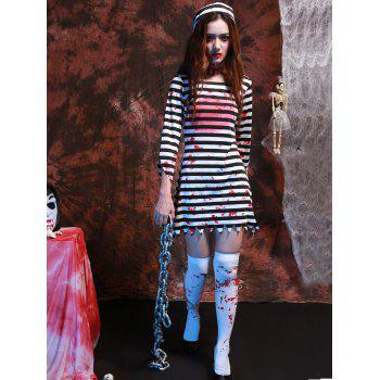 Stripe Long Sleeve Hallowmas Cosplay Costume - XL XL