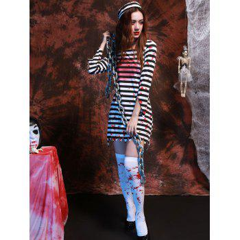 Stripe Long Sleeve Hallowmas Cosplay Costume - STRIPE XL