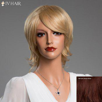 Side Bang Short Tilt Straight Real Natural Hair Siv Wig