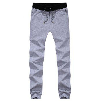Color Block Spliced Lace-Up Beam Feet Jogger Pants
