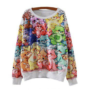 Bears Print Loose Sweatshirt