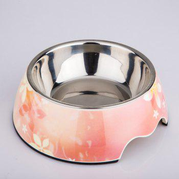 Stainless Steel High Quality Pet Bowl Dog Feeder - PINK L