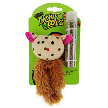Cat's Faves Catnip Pet Supply Plush Toy - YELLOW YELLOW