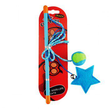 Hand Shank Rope With Star and Ball Catnip Cat Toy - COLORFUL COLORFUL