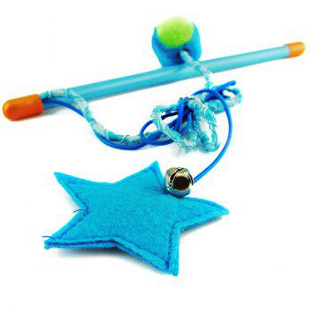 Hand Shank Rope With Star and Ball Catnip Cat Toy -  COLORFUL