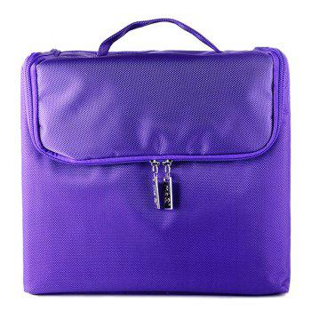 Nylon Oxford Layered Cosmetic Case - PURPLE PURPLE