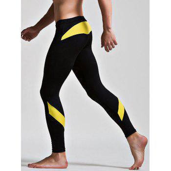 Low Waist Long Johns with Color Insert - BLACK M