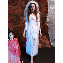 Blood Print Lace Splicing Hallowmas Cosplay Costume