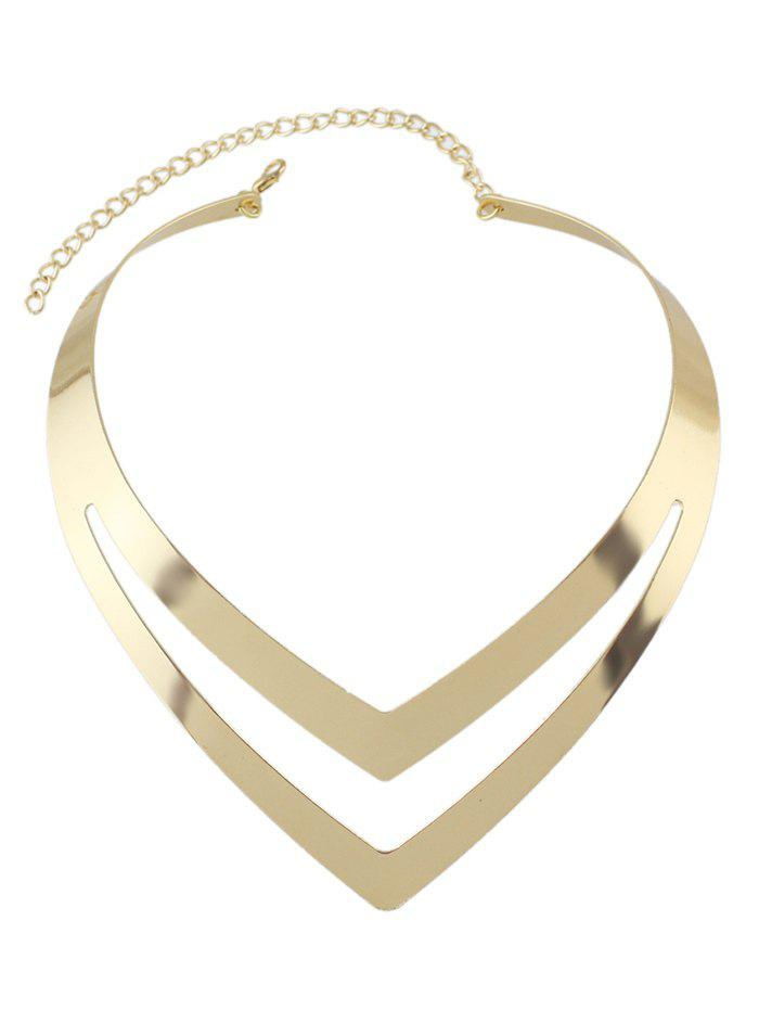 Alloy V-Shaped Hollow Out Necklace