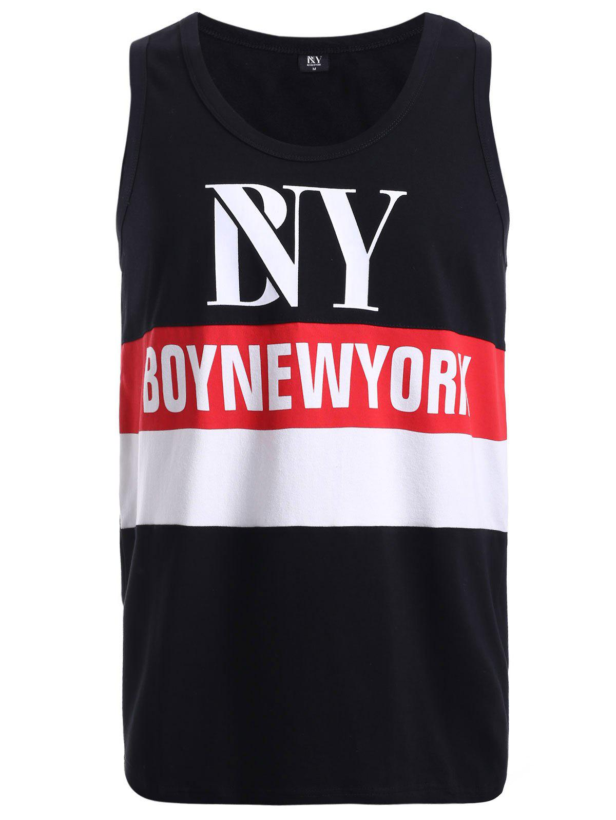 BoyNeckYork Color Splicing Tank Top - COLORMIX XL