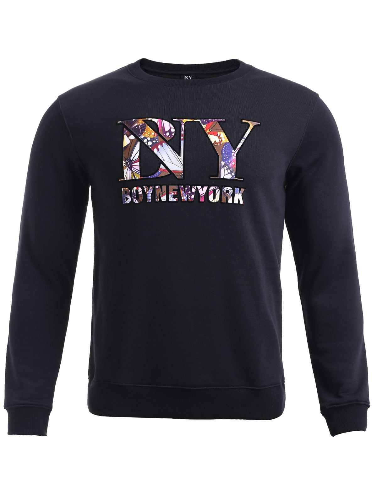 BoyNewYork Butterfly Printed Long Sleeves Sweatshirt