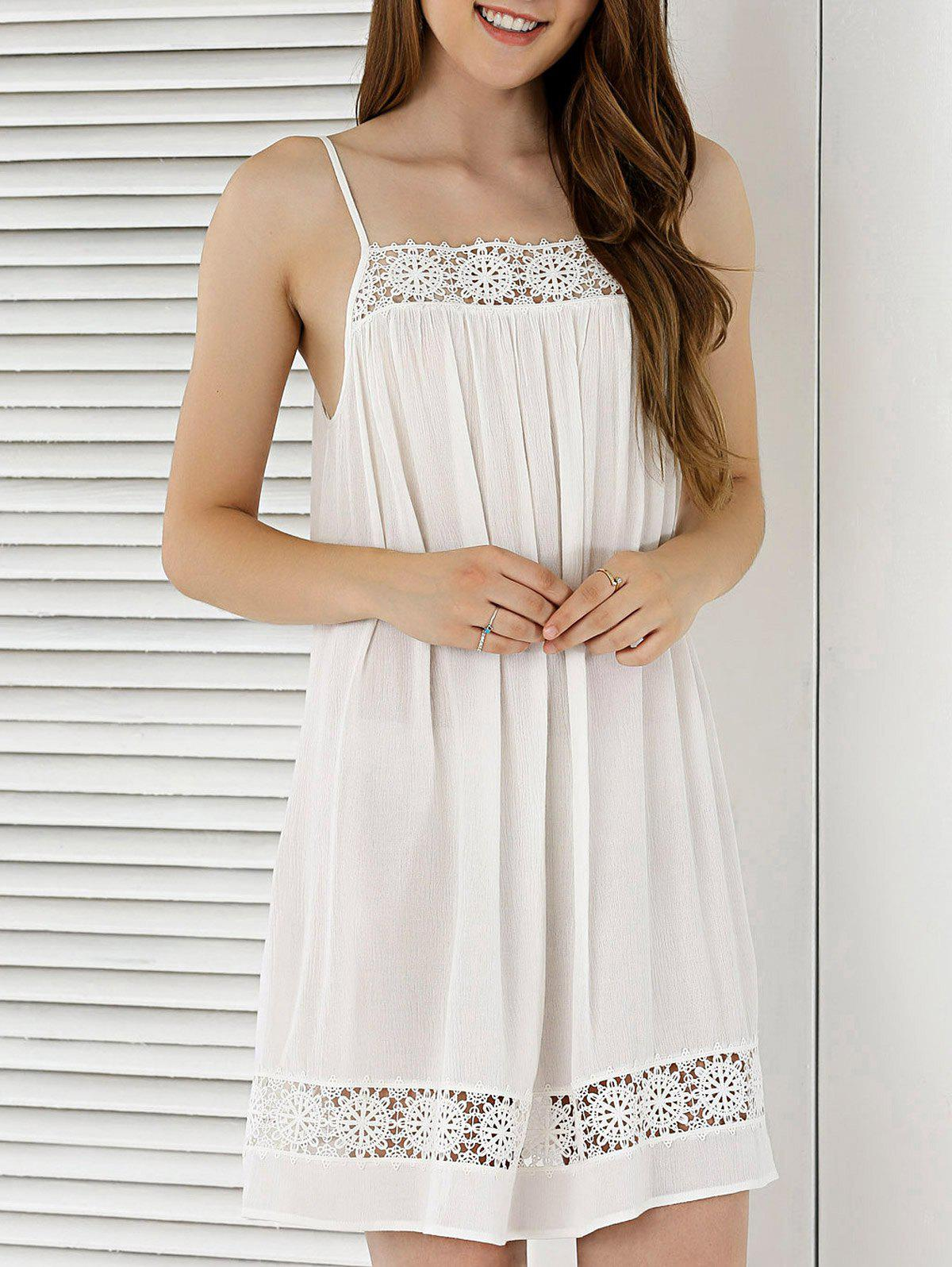 Spaghetti Strap Hollow Out Summer Dress