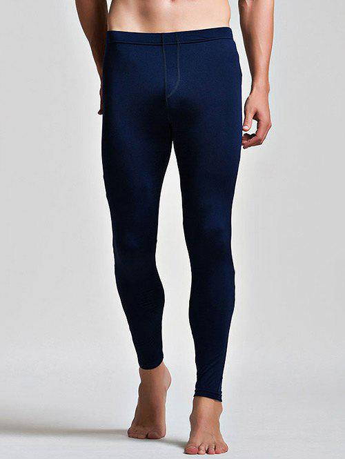 Low Waist Long Johns with Color Insert - CADETBLUE M