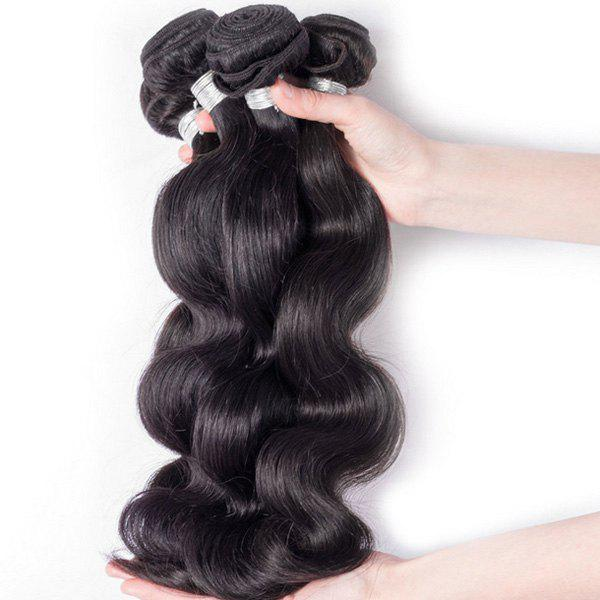 1Pcs Body Wave Indian 5A Remy Hair Weave - BLACK 18INCH