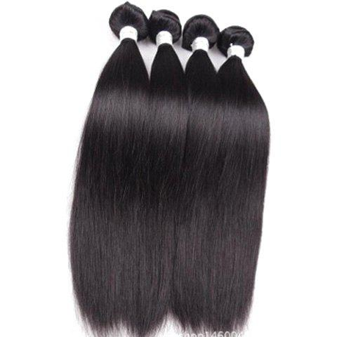 1Pcs Straight Indian 5A Remy Hair Weave - 26INCH BLACK