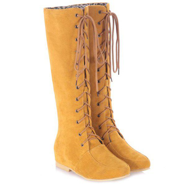 Lace-Up Suede Increased Internal Knee High Boots small watyer booster pump reorder rate up to 80% shower booster pump