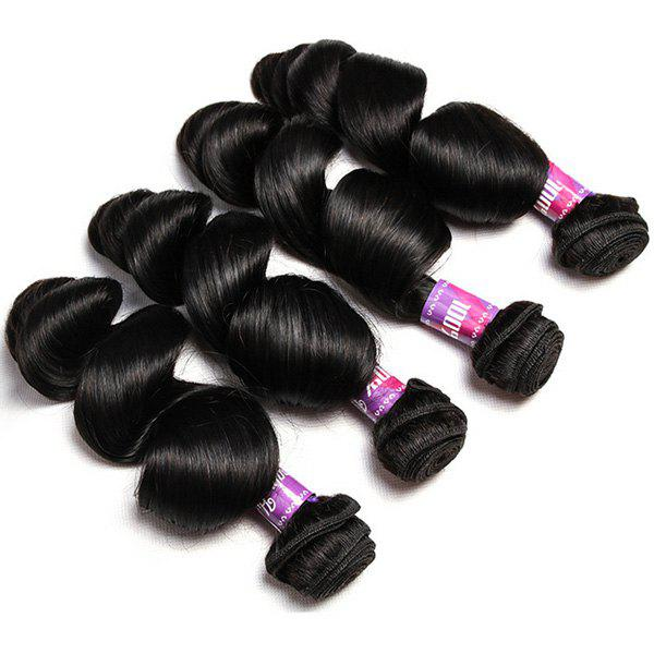 1Pcs Loose Wave Indian 5A Remy Hair Weave - BLACK 12INCH