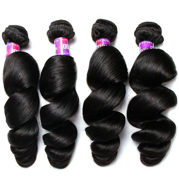 1Pcs Loose Wave Indian 5A Remy Hair Weave - BLACK 26INCH