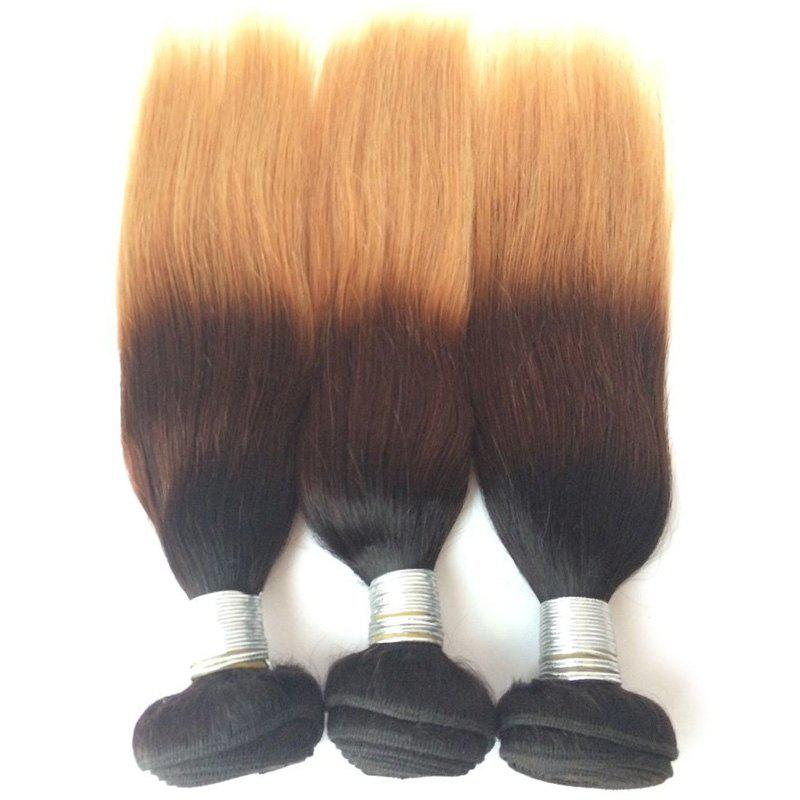 Multi 1Pcs Straight Indian 5A Remy Hair Weave - multicolorcolore 20INCH