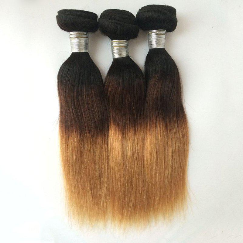Multi 1Pcs Straight Indian 5A Remy Hair Weave - COLORMIX 24INCH