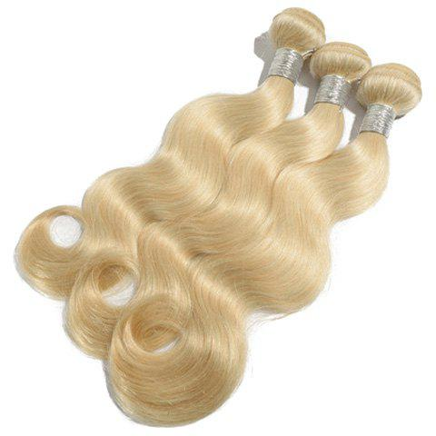 Sparkling 1Pcs Body Wave Indian 5A Remy Hair Weave - BLONDE 10INCH