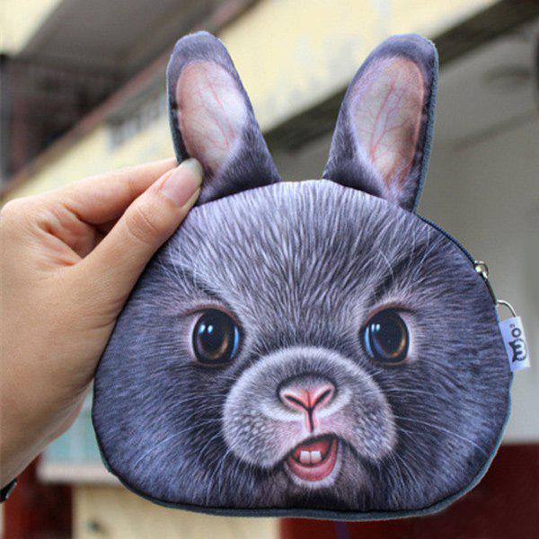 Zipper 3D Bear Coin Bag