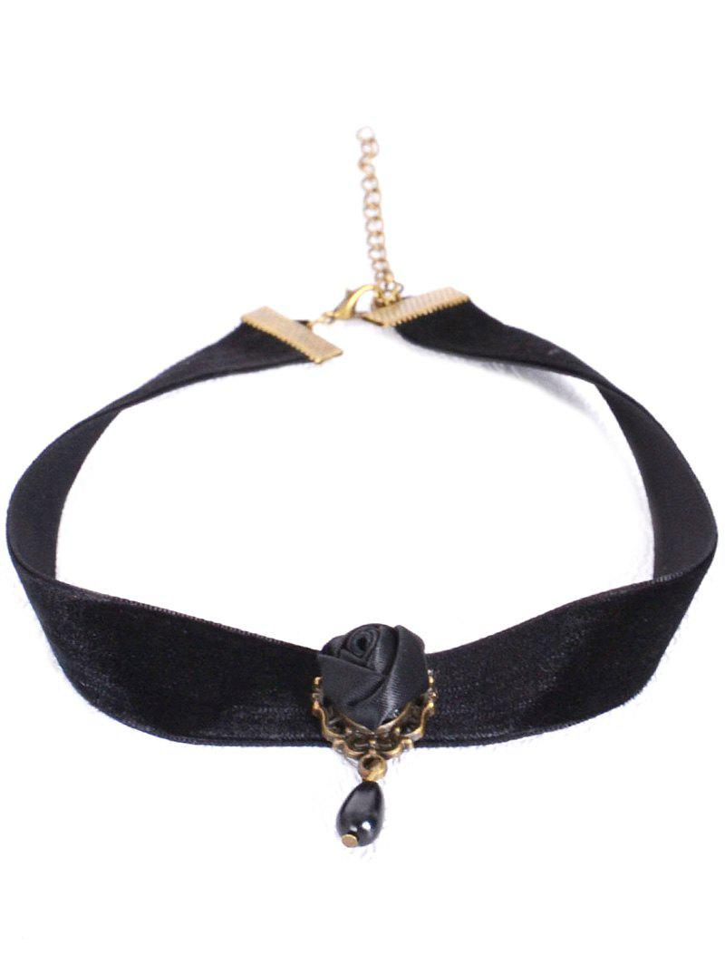 Rose Velvet Choker Necklace