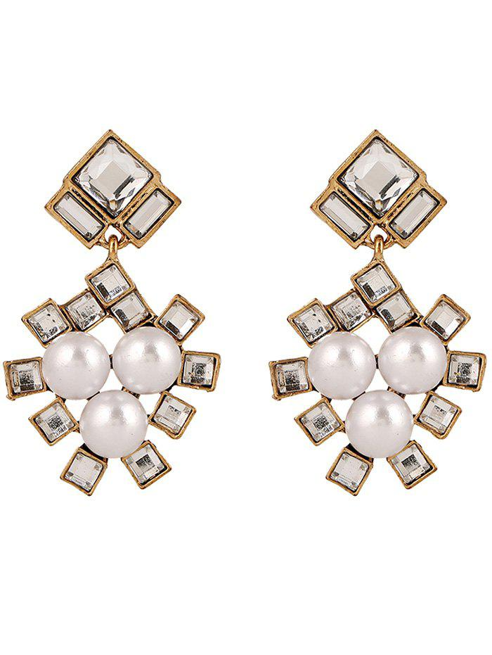 Faux Pearl Square Wedding Jewelry Earrings