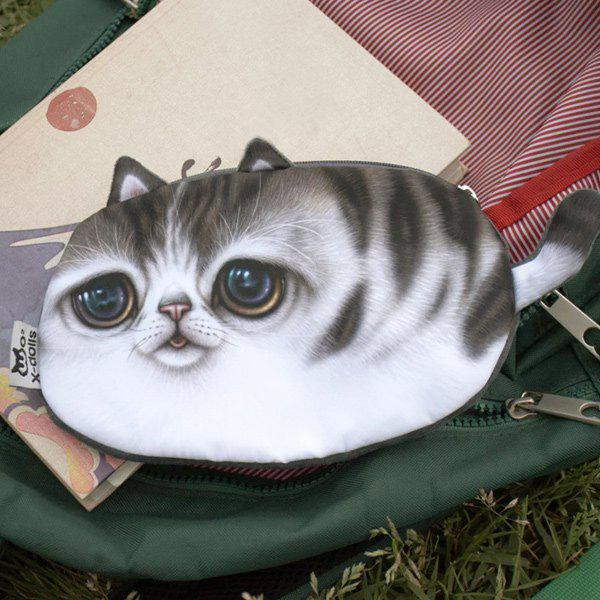 Lifelike 3D Kitten Coin Purse