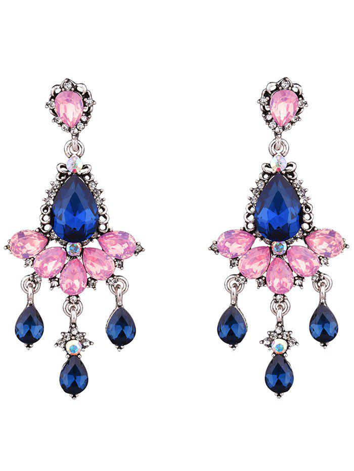 Rhinestone Water Drop Party Jewelry Earrings - PINK