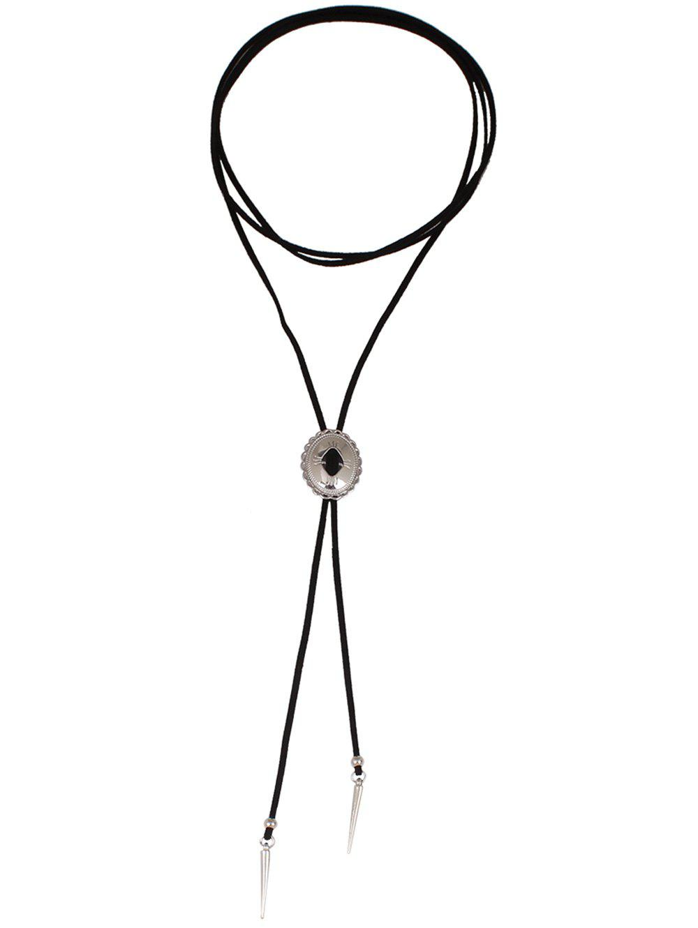 Cone Pendant Layered Choker Necklace - SILVER
