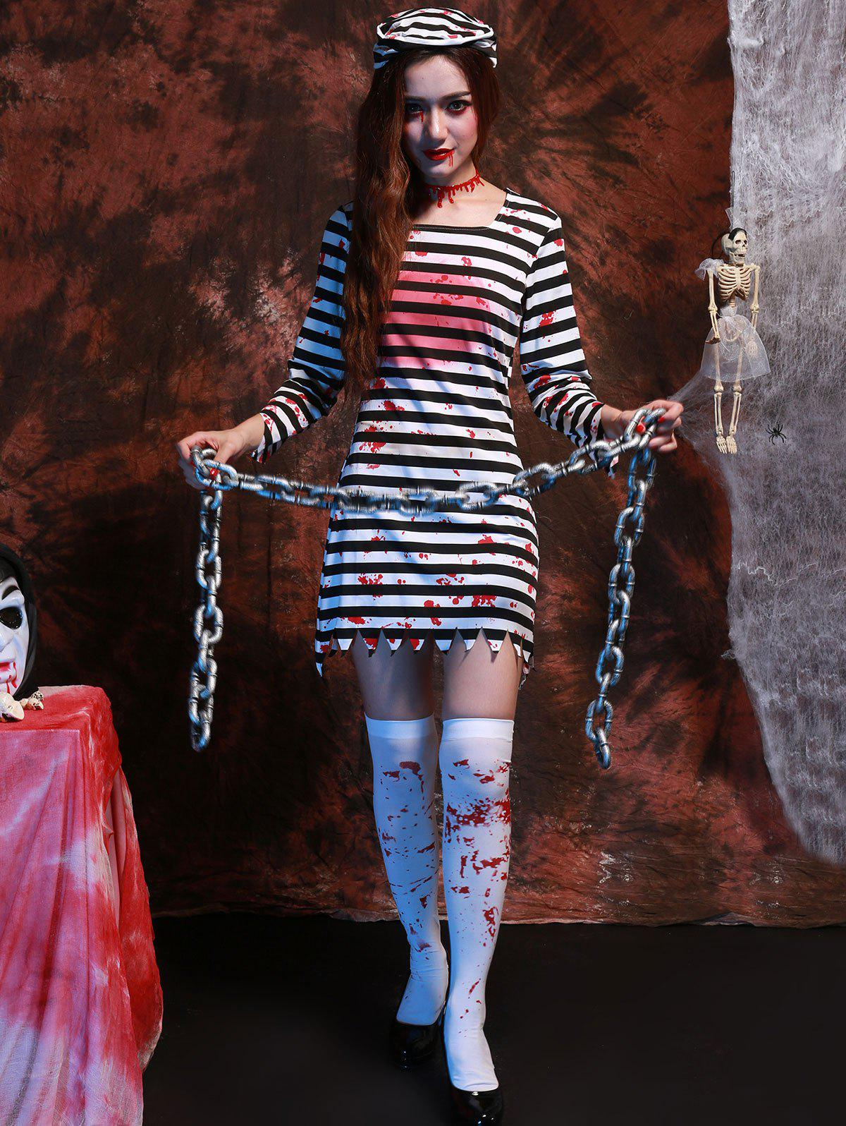 Stripe Long Sleeve Hallowmas Cosplay Costume