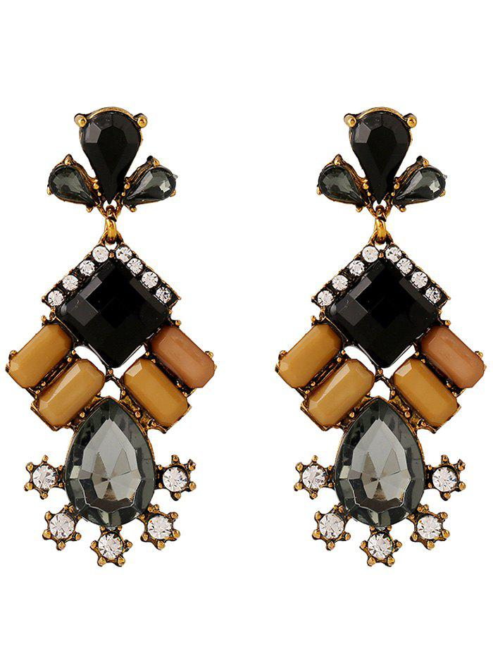 Faux Crystal Rhinestone Water Drop Earrings faux crystal rhinestone square drop earrings